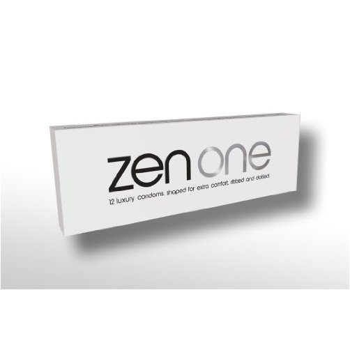 Zen One Condoms – 12 Luxury Large Ribbed and Dotted Condoms with extra lubrication
