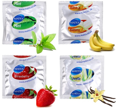 Mates Condoms Mixed Flavours x12